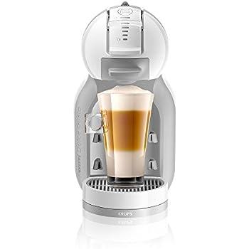 Krups KP1201 - Cafetera Nestlé Dolce Gusto Mini Me, automática, 15 bares de presión, Blanca y gris