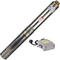 Agora-Tec® AT- 4 Zoll Edelstahl-Tiefbrunnenpumpe Brunnenpumpe 750W-4 mit 15 m Kabel max: 6,7 bar, max: 4000l/h
