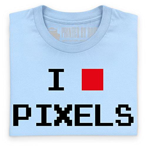 I Heart Pixels T-Shirt, Damen Himmelblau