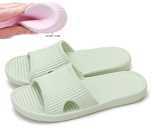 Slip On pantofole antiscivolo doccia sandali House Mule Pool suola morbida schiume bagno scorrevole per adulti Green
