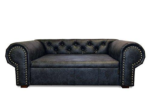 EDY Diseño ED de OHA Perros sofá Dog Bed Ohio New Chesterfield, XL, Antiguo Antracita 2de sonido