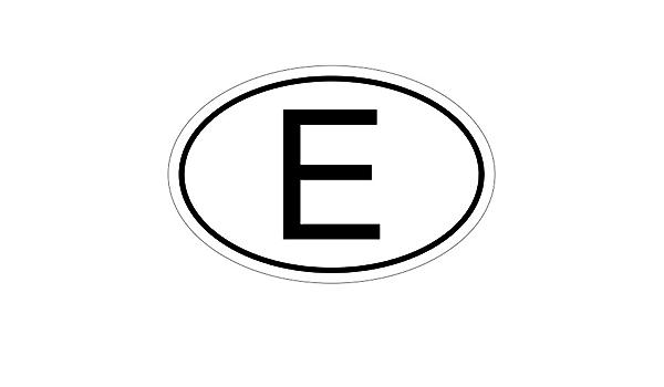 Kiwistar Spanien E 10 X 6 6cm Autoaufkleber Sticker Aufkleber Kfz Flagge Auto