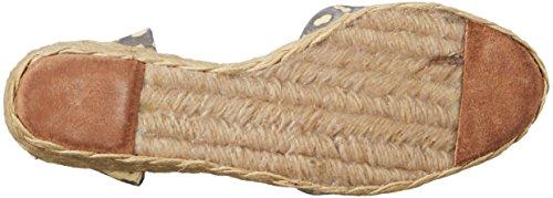Lauren Ralph Lauren Cala Peep Zehe Textile Keilabsätze Stne/Wheat