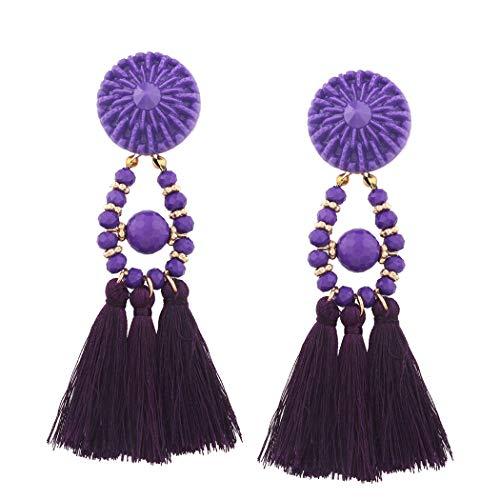 Halloween Vintage Long Tassel Earrings for Women Girls Dangle Boho Retro ()