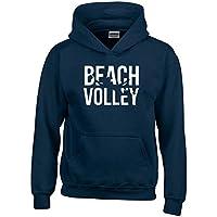 T-Shirtshock - Felpa hoodie bambino SP0038 Beach Volley Maglietta