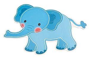 BIECO 19209606 - Alfombra de Puzzle con diseño de Elefante Tomboi, Alfombra de Puzzle con 25 Piezas, Alfombra de Juego para el Suelo, Puzzle para niños, a Partir de 12 m+, Color Azul