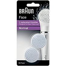 Braun Face 80 - Paquete de 2 cepillos de repuesto, diseñado para el cepillo de limpieza Braun Face
