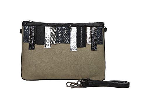 Bolsos mujer, bolsos de fiesta y diario, clutch verde oscuro con detalles originales, bolsos de...