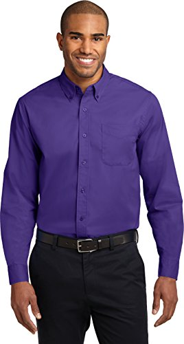 Port Authority -  Camicia Casual  - Uomo Purple/Light Stone