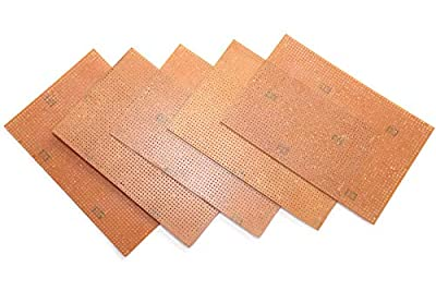 pack of 5 General Purpose Printed Circuit Board 15x10cm, zero pcb Board, For electronic project or experiment