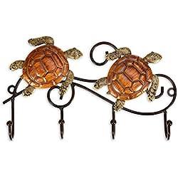 TOOARTS Appendino da parete in ferro Design vintage con 4 ganci Cappotti Keys Borse Appendiabiti Idea regalo decorativa da parete