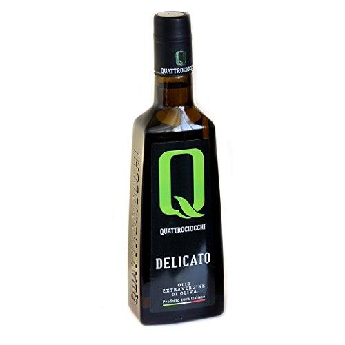 Olio extra vergine di oliva delicato 100% leccino quattrociocchi 500 ml