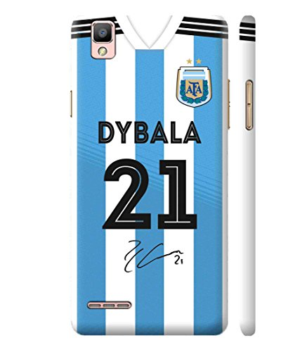reputable site 77e50 c5ab9 Print Vale Argentina Home Paulo Dybala Jersey 21 FIFA World Cup 2018/2019  Designer Printed Polycarbonate Matte Finish Hard Back Case Cover for Oppo F1
