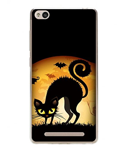 PrintVisa Designer Back Case Cover for Xiaomi Redmi 3s (Cartoons Cat Bats Ghost Frightening )