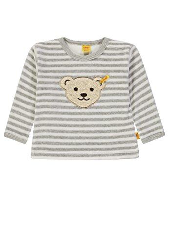 Steiff Steiff Unisex Baby Sweatshirt 1/1 Arm Nicky, Weiß (y/d Stripe|Multicolored 0001) 56