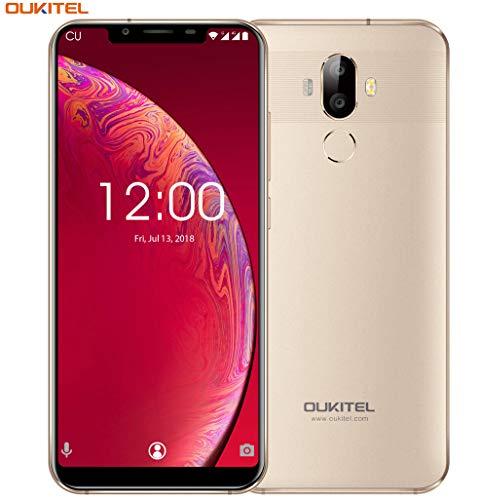 "OUKITEL U18 4G LTE Smartphone Libre,5.85"" 21:9 HD+ Pantalla, Cámara de 16MP+5MP+13MP,Octa-Core 4GB RAM+64GB..."