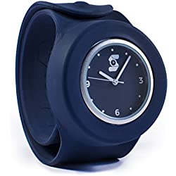 Original Navy Blue Slappie Slap Watch (BBC Dragons Den Winner) Adults/Kids Size Large