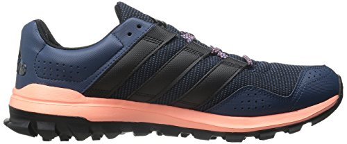 Adidas Performance Slingshot Trail Running Shoe, blu / viola RAW / blu, 5 M Us Mineral Blue/Black/Sun Glow Yellow