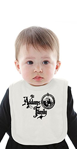 The Addams Family logo Organic Baby Bib With Ties Medium (Addams Family Baby-gomez)