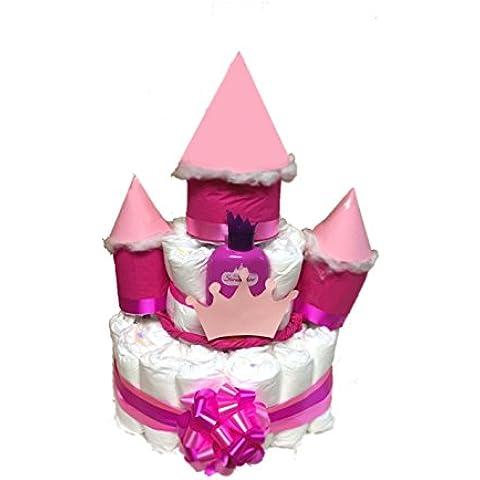 'Torta di Pannolini Pannolino–Serratura magica principessa Stella
