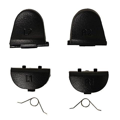 eJiasu L1 R1 L2 R2 Trigger Pièces de rechange Boutons avec 2 ressorts Joysticks Thumbstick Poignées Poignées Capuchon pour PS4 PlayStation 4 Controllers (10sets)