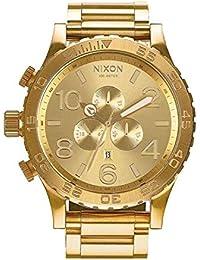 Nixon 51/30 Reloj para Hombre Analógico de Cuarzo con Brazalete de Acero Inoxidable bañado