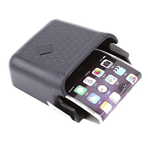 kemai Seau de Stockage de véhicule, Porte-Cartes de téléphone Portable Autocollant pour Organisateur de Voiture, boîte de Rangement pour téléphone Portable Multi-Fonction, Noir
