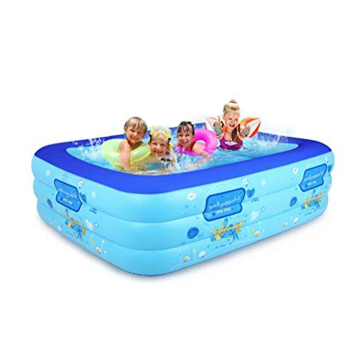 Bathtub LUYIASI- Kleinkinder und Kinder Swimming Pool Home Erwachsene übergroße Wasser Kinder Bad aufblasbare Pool verdickte Familie (160x125x60cm) (größe : 180x125x60cm)