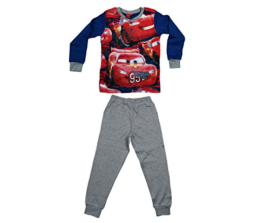 WD16-115 Pigiama da bambino Disney Cars in caldo cotone da 3 a 7 anni. MEDIA WAVE store ® (7 Anni)
