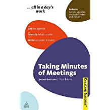 Taking Minutes of Meetings (Sunday Times Creating Success) by Joanna Gutmann (2010-01-03)