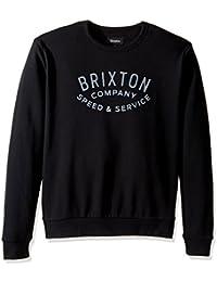Brixton Hombre Sudadera Gasket Crew, Hombre, Gasket Crew, Negro, S