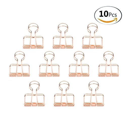 zonyeo 10 Stück Draht Binder Clips Stilvolle Metall Clips Draht Clip für Foto Wand Drahtgitter Display (Binder Clip)