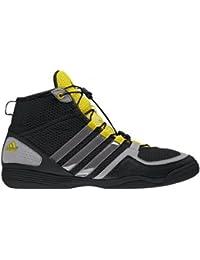 adidas Chaussure de boxe Boxfit 3 pour Adulte, Noir-gris-jaune, 39 1/3
