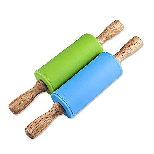 Manija madera antiadherente madera rodillo silicón
