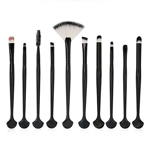 Watopi 10pc Mermaid Foundation Set de pinceaux pour le maquillage des lèvres