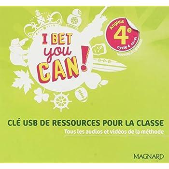 I Bet You Can Anglais 4e Cycle 4 A1-B1 Cle Usb de Ressources pour la Classe