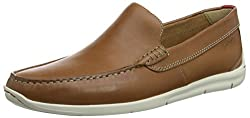 Clarks Mens Tan Leather Loafers - 10.5 UK/India (45 EU)