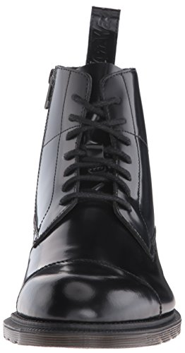 Dr. Martens Herren Winchester Black Polished Smooth Stiefel, Schwarz Schwarz (Black)