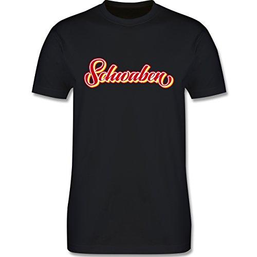 Schwaben Männer - Schwaben buntes Lettering - L190 Schlichtes Männer Shirt Schwarz