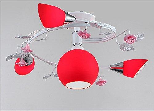 MoMo Moderne einfache Mode Hochzeit Zimmer Schlafzimmer rote Deckenleuchte, Deckenleuchte,* 2 *
