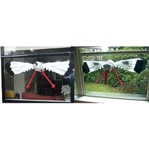 fensterstorch klein storch fliegt durch fenster 90cm deko. Black Bedroom Furniture Sets. Home Design Ideas