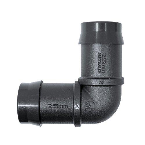 Plant it Angle pour connexion tuyau à 25 mm – 25 Pack – 44875, noir, 9.7 x 6.2 x 3 cm, 13–630–915