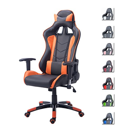 Delman Gaming Stuhl Bürostuhl Racing Stuhl Schreibtischstuhl ergonomische Design 02-1004 (Schwarz-Rosa)