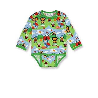 JNY Long Sleeve Body - Lion Circus - 62 cm - 2-4 Months Green