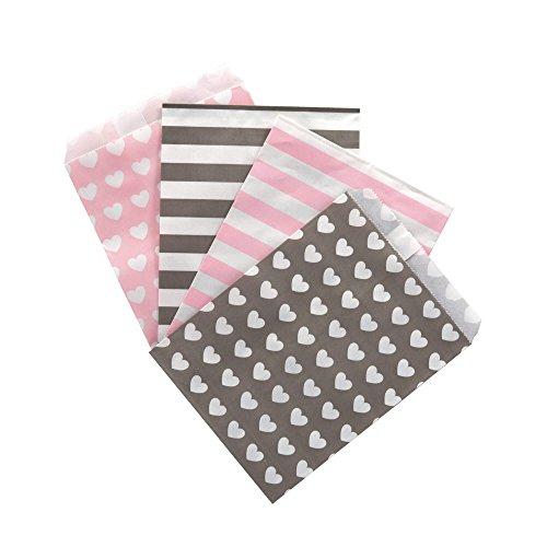 (100 Frau Wundervoll Papiertüten - Design Mix - 4 Designs mit je 25 Papiertüten / Geschenktüten / Candy Paper Bags)