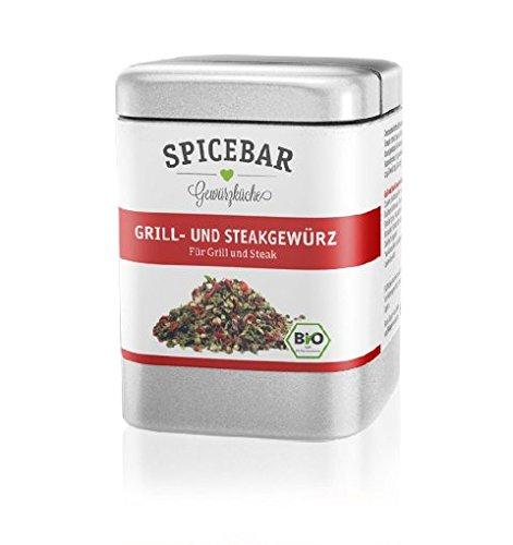 Spicebar Grill-Gewürz und Steak-Gewürz in Premium Bio Qualität (1 x70g)