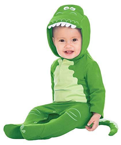 Fancy Me Baby Jungen Mädchen Offiziell Toy Story Disney Rex Grüner Dinosaurier Film Welttag des Buches Halloween Tier Kostüm Kleid Outfit 0-12 Months - Grün, 9-12 ()