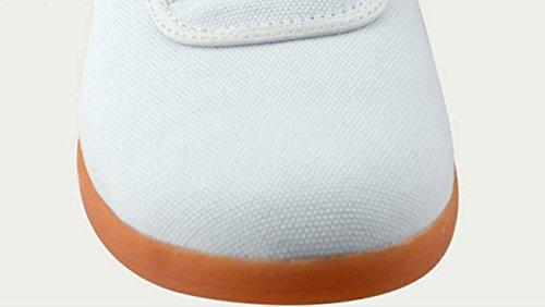 NobS Scarpe Tai Chi Scarpe Delle Scarpe Di Tela Scarpe Di Addestramento Militare Calza Gli Uomini E Scarpe Donna White