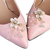 Kercisbeauty 2 Stück Hochzeit Brautjungfern Silber High Heels Clips Frauen Kleid Dekoration für Party, Abschlussball, Geschenk