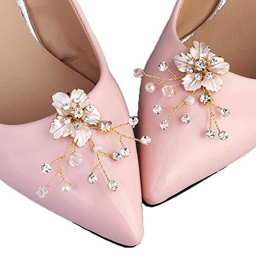 Kercisbeauty 2 Stück Hochzeit Brautjungfern Silber High Heels Clips Frauen Kleid Dekoration für Party, Abschlussball, Geschenk -